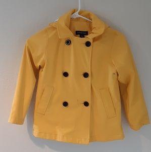 Lands' End Classic Yellow Raincoat 6x